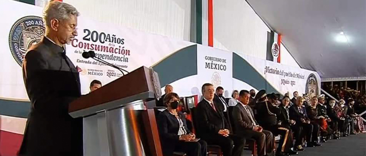 EAM Dr.S.Jaishankar attended the ceremony for 200 years of consummation of Mexican Independence