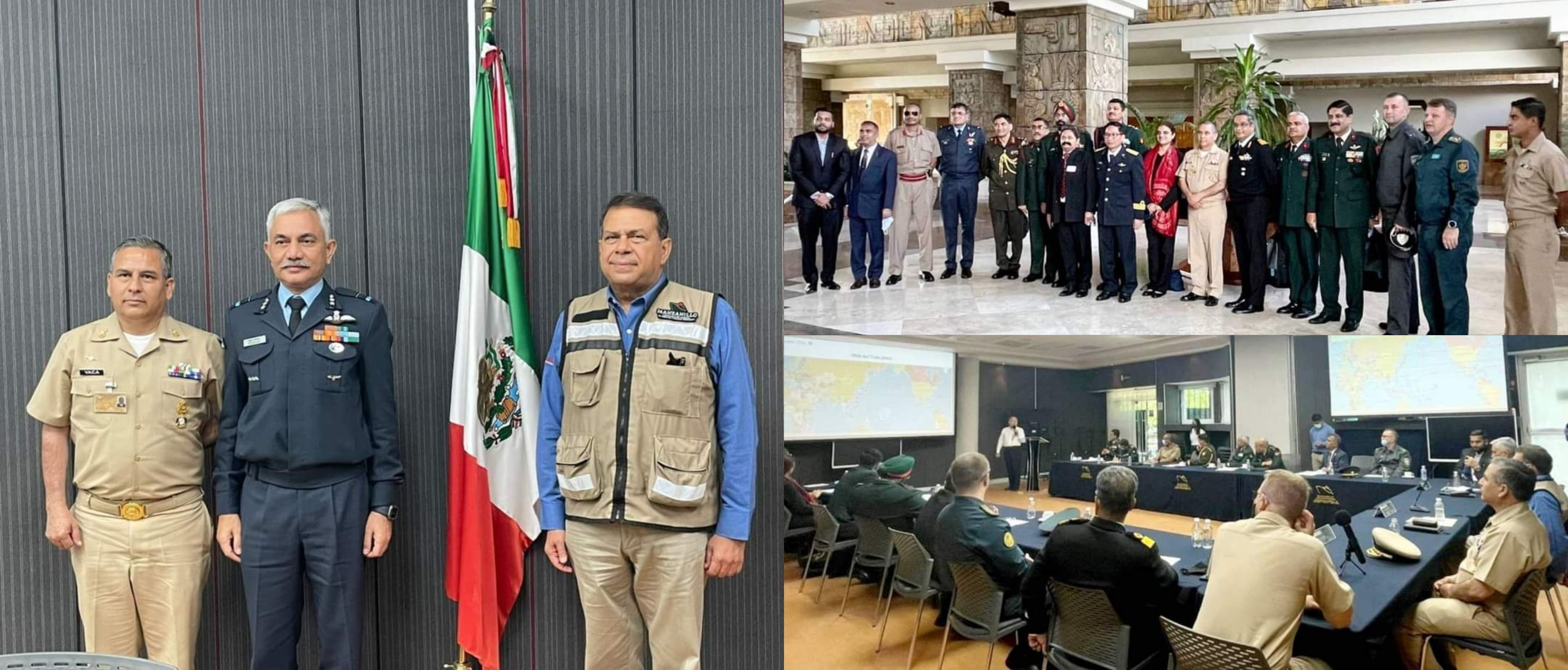 National Defense College (NDC) delegation from India visited the Mexican naval facility at Port Manzanillo. They were briefed through a presentation on the history, management, strategic and commercial importance of Port Manzanillo.