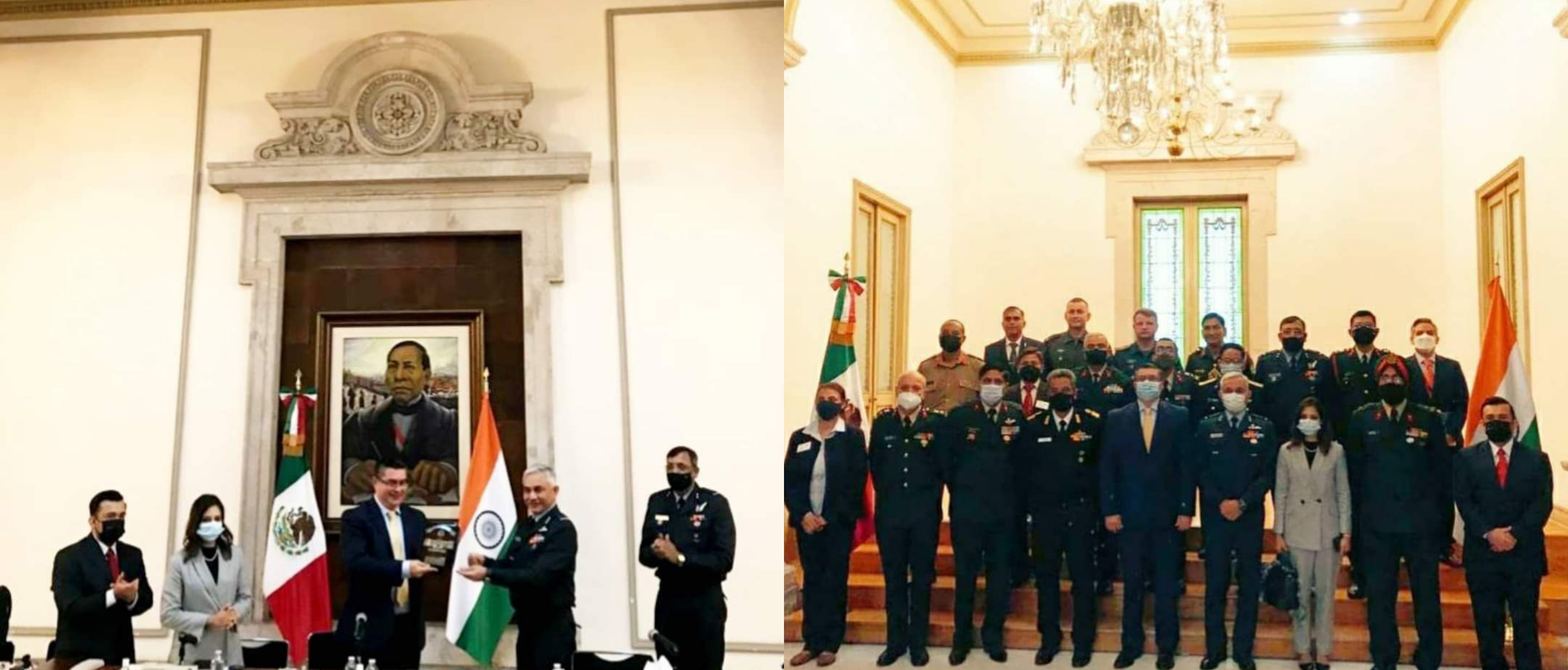 India's National Defense College's delegation visited Mexico's Ministry of Interior.
