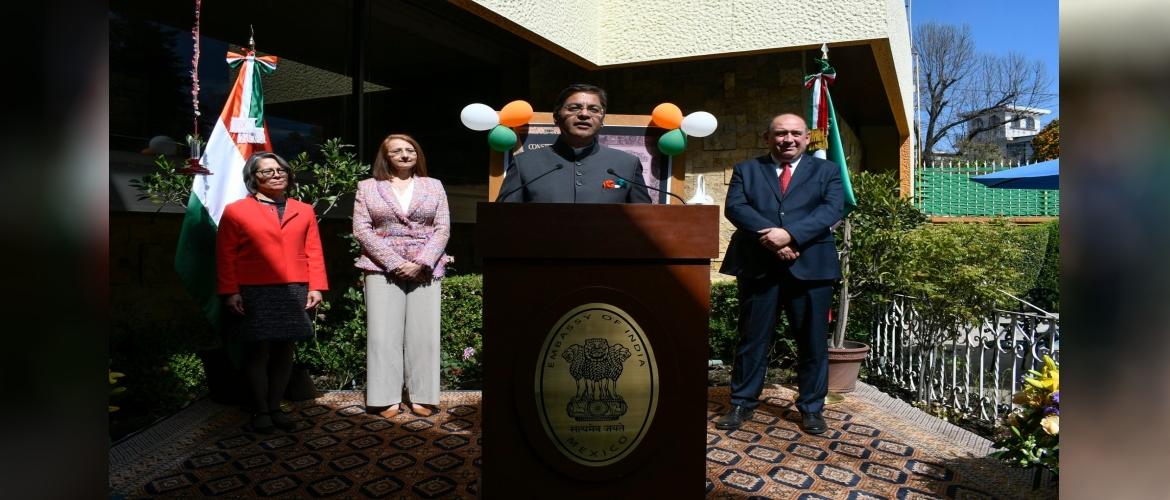 National Day reception was hosted at the India House on 27 Jan, 2020 with distinguished guests from diplomatic corps, government of Mexico and friends of India.
