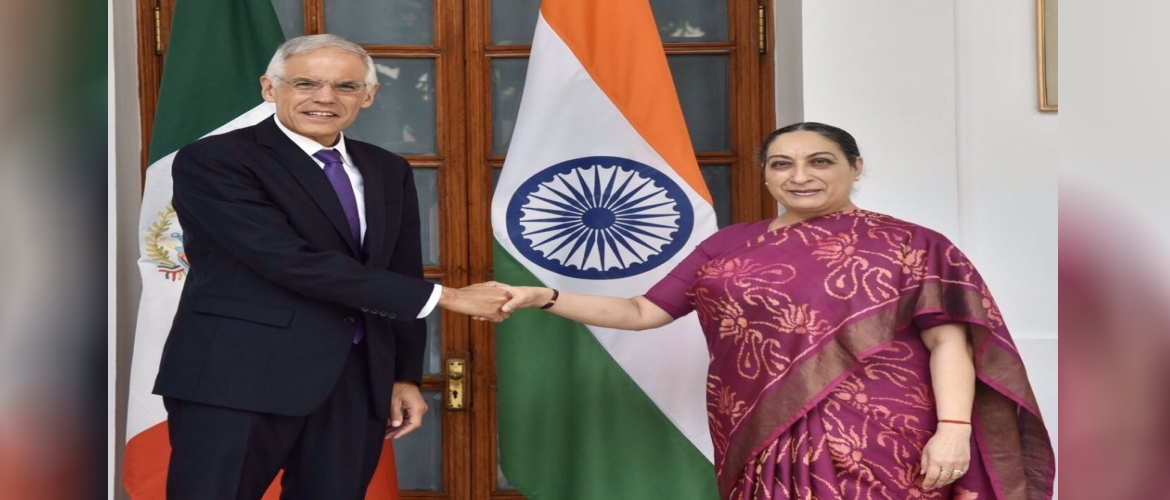Amb. Julian Ventura, Vice Minister of Foreign Affairs of Mexico visited India and met his counterpart in January, 2020.